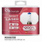Clearlight - H4 - 12V-60/55W Night Laser Vision +200% Light